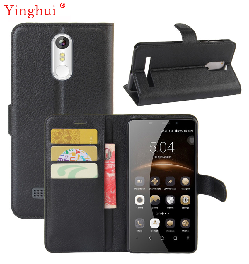 Nytt 2017 for Leagoo M8 Veske Høykvalitets Flip Leather Veske For Leagoo M8 pro Mote Stand Cover for Leagoo M8 pro