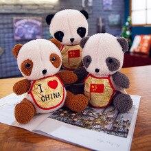 22cm Cute Panda Doll Soft Plush Toys PP Cotton Stuffed Small Panda Plush Doll Children Toy Home Decoration Gift panda shaped plush pp cotton toy white black