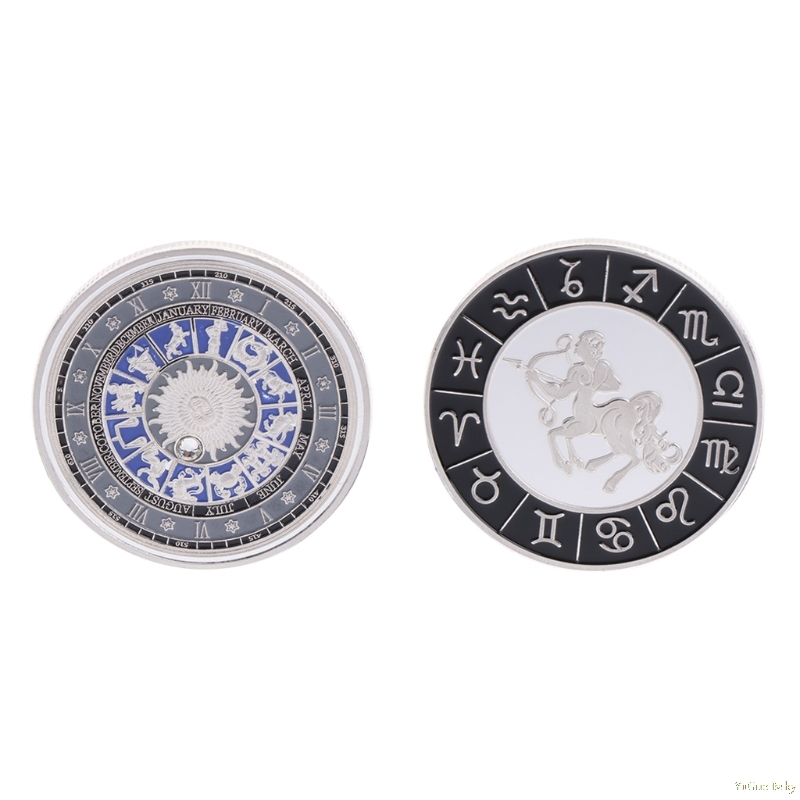 2018 Meaningful Commemorative Coin Plated Silver Constellation Sagittarius Souvenir Collection Noncurrent Coin