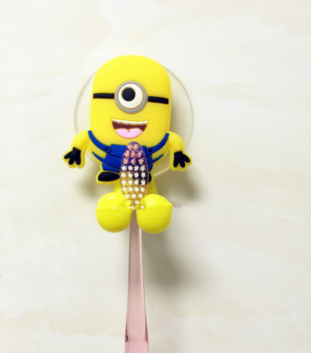 Hello kitty bathroom accessories - Hot Sale Cute Minion Hello Kitty Cartoon Suction Cup Toothbrush Holder Bathroom Accessories 2 Colors Free