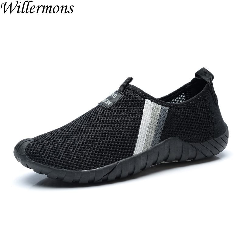 2017 Summer Mens Outdoor Slip on Breathable Sports Walking Shoes Men Cozy Mesh Running Sneakers Shoes Sapatos Masculino