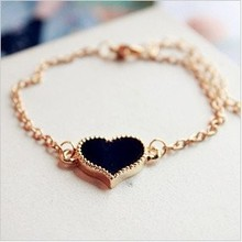 2017 Heart Korean version fashion show choke a small chili glaze drip Pursuit heart of love bracelet