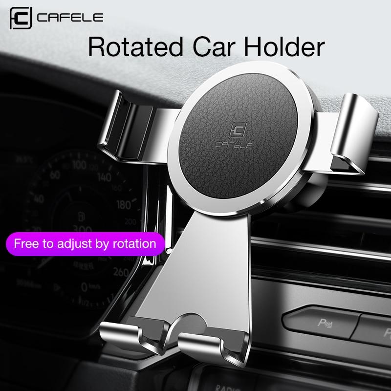 CAFELE Car Phone Holder 360 Degree Rotation Air Vent Mount GPS Holder Aluminium Alloy Clip Car Holder for iPhone X Samsung S9