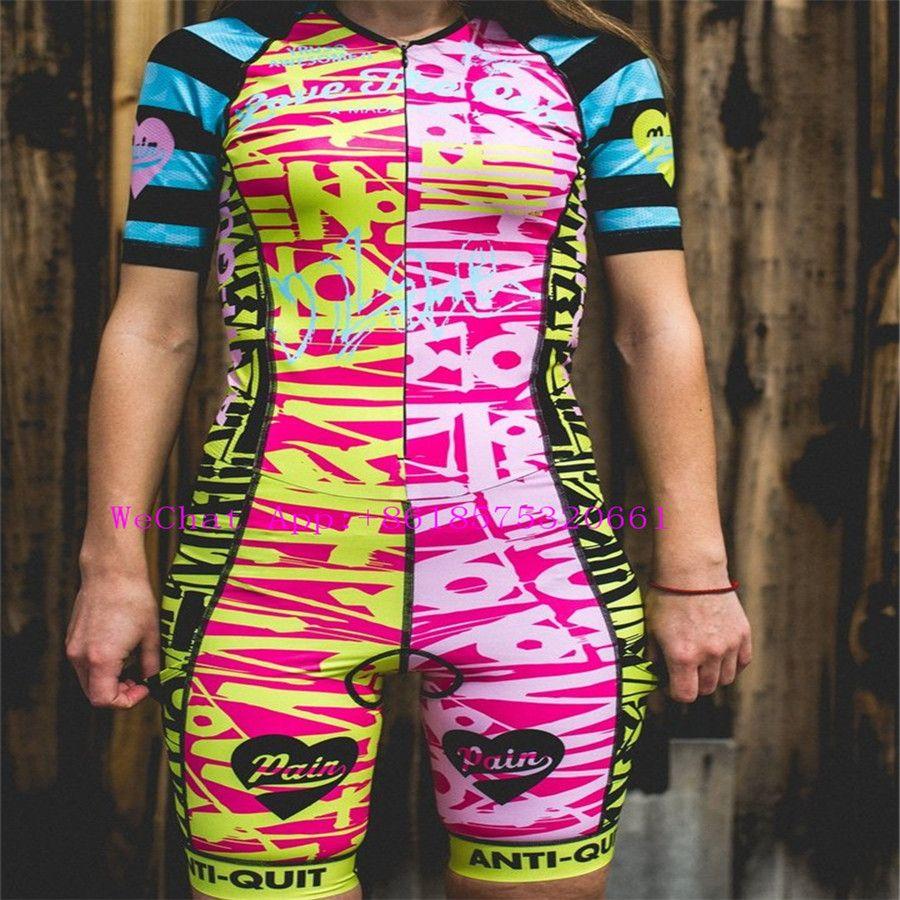 2019 liebe die schmerzen Triathlon Hohe qualität Körper Anzüge skinsuit aero Radfahren Kleidung Ciclismo Verpflichten benutzer ausweichen