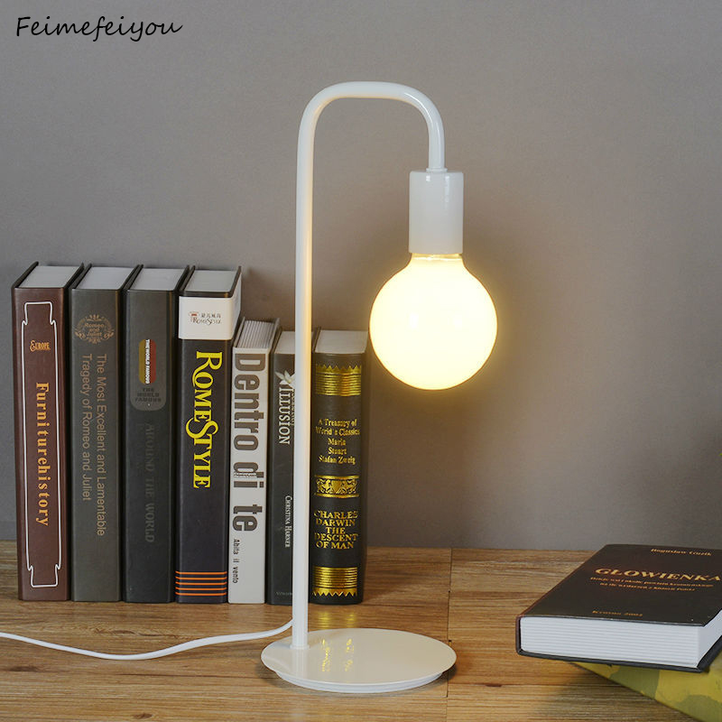 Licht & Beleuchtung Schreibtisch Lampen Schlafzimmer Nacht Lesen Tisch Lampe Nacht Beleuchtung Kinder Lernen Licht Einfache Mode Eisen Metall Farbe Prozess