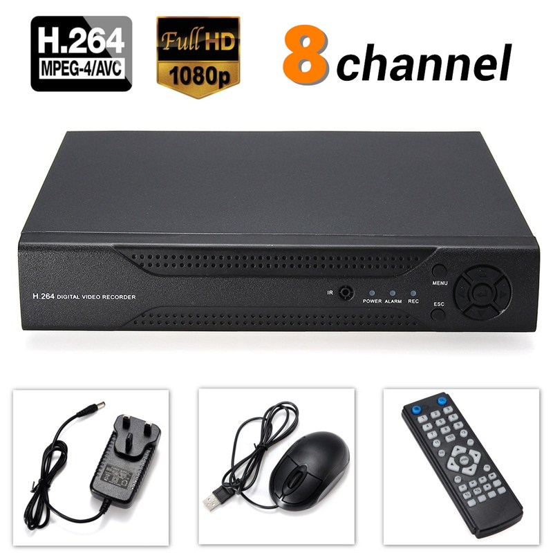 Safurance H.264 8CH D1 DVR HDMI Audio Digital Surveillance Video Recorder For Home CCTV Security Camera sannce 8 channel 720p 1080n h 264 video recorder hdmi network cctv dvr 8ch for home security camera surveillance system kit