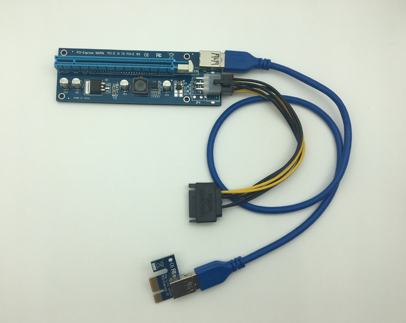 все цены на 1X to 16X PCIE riser USB 3.0 Adapter Card - With USB Extension Cable - pci-e riser cable 16x 12pack онлайн