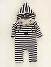 2016 Bebes Striped Rompers Baby Costumeds For Toddler Girls Boys Infant Costumes baby boy stripe Romper