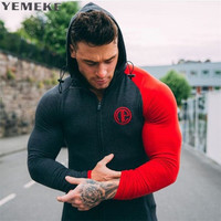 YEMEKE 2017 Fashion New Men Hoodies And Sweatshirts Brand Clothing Top Quality Casual Male Hooded Sweatshirt