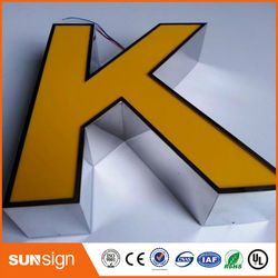 Shop name board designs frontlit LED alphabet letters