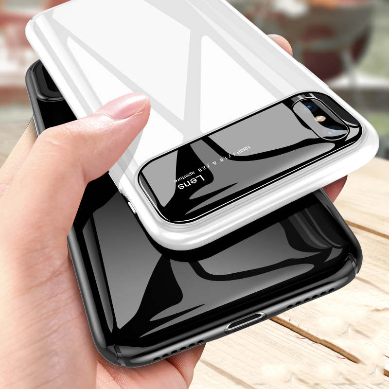 Luxury Matte Hard Shockproof Case For iPhone 6 6S Plus 5 5S SE Clear Mirror Phone Cases For Samsung Galaxy S8 Plus Note 8