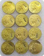 USA 1908-1929 $2.50 Indian Head Quarter Eagle złota moneta kopia monety