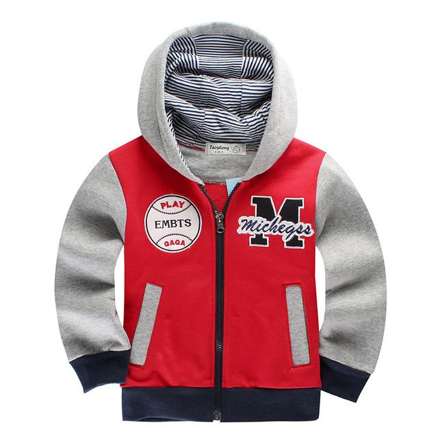 Hoodies & camisolas das crianças primavera outono inverno 2017 moda de nova lazer zipper outwear casaco do garoto clothing outfit 3 cor