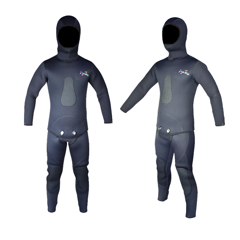 Top Quality Layatone Mens 7mm Rubber Neoprene Wetsuit for Spearfishing Bands with Long Pants Sleeves WS-100-7