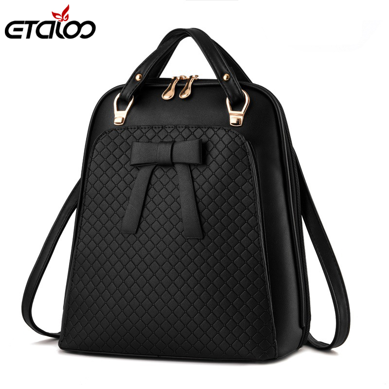 2018 New PU Leather Backpack Shoulder Bag College Wind Casual Backpack Ladies School Backpacks for Girls High Quality цена 2017