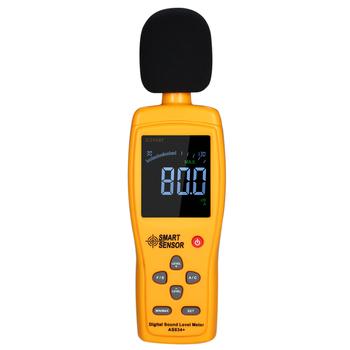 Mierniki poziomu dźwięku miernik decybeli rejestrator poziom hałasu Audio detektor cyfrowy narzędzie diagnostyczne 30-130dB poziom hałasu do pomiaru objętości tanie i dobre opinie 30 ~ 130dB SMART SENSOR