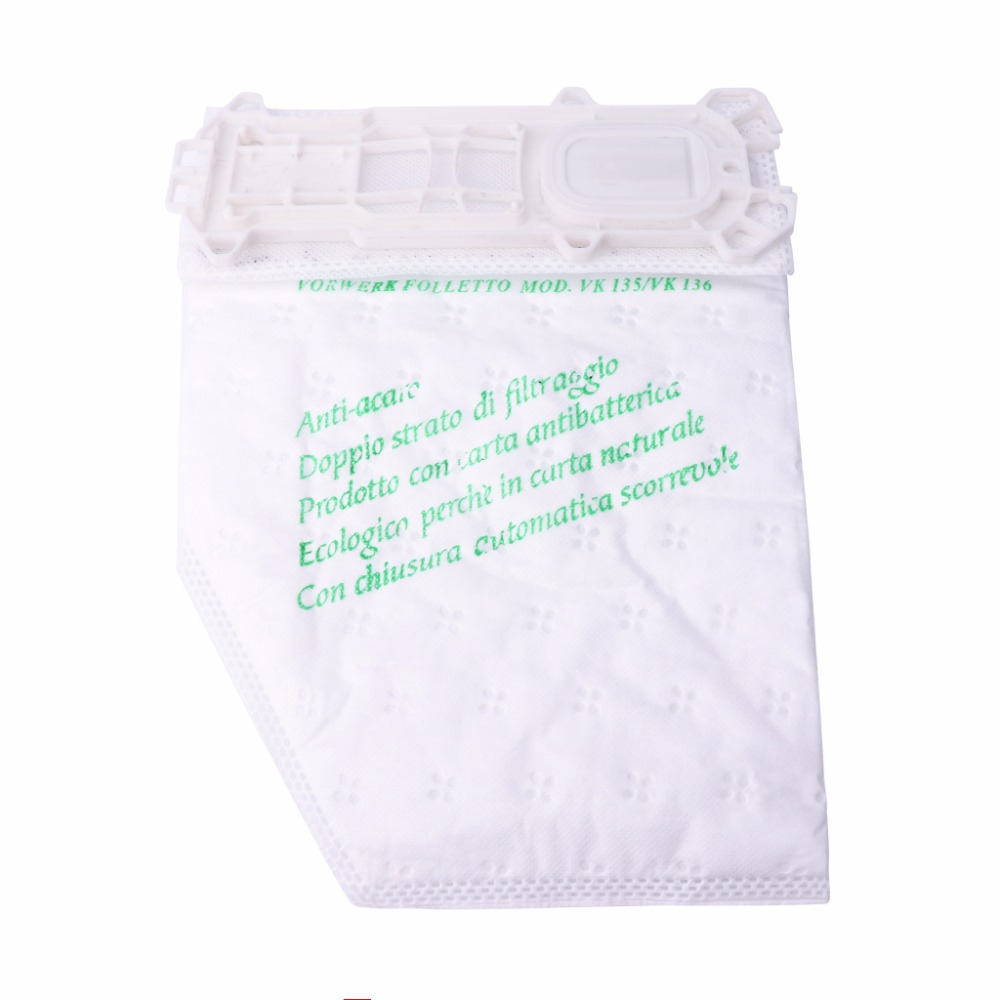 1 PC Microfibre Cloth Dust Bag FP135/FP136 For VORWERK KOBOLD Vacuum Cleaners yijia 6 pcs lot for vorwerk for kobold vk130 vk131 paper dust bag suitable vacuum double lined micro fibre filter dust bag