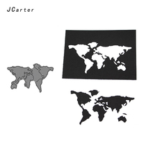 JC Metal Cutting Dies for Scrapbooking Cut World Map Plate Outline Stencil Handmade Paper Card Making Model Decoration 2019