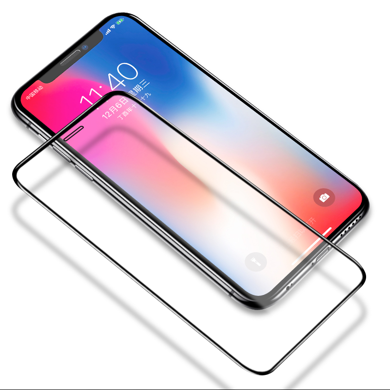 Image 4 - 6D Full coverage protective glass for iPhone X Xr XS max glass iphone XS max Xr X screen protector iPhone X XS max Xr glass flim-in Phone Screen Protectors from Cellphones & Telecommunications
