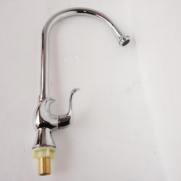 L16156 Deck Mounted Chrome Color Zinc Material Kitchen Cold Water Tap