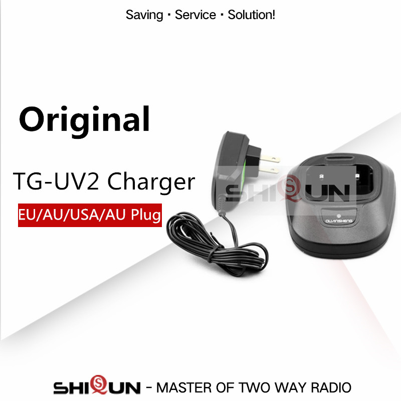 Original Quansheng TG-UV2 Charger TG UV2 Desktop Charger CHG-13 Charger CDQ-Q2 Plug For Quansheng Ham Radio TG-UV2 Dual Band 5W