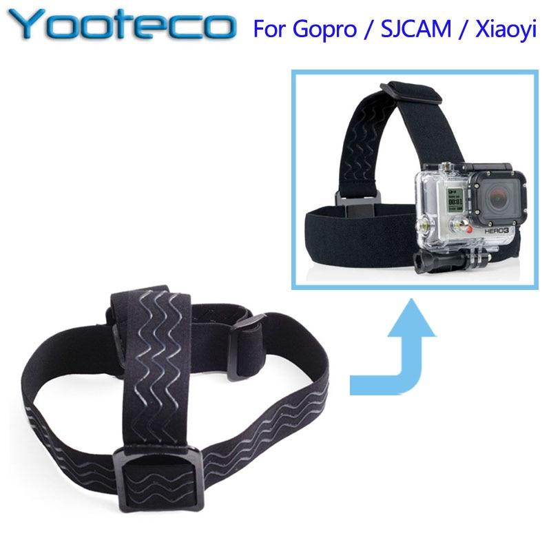 For GoPro Accessories Elastic Adjustable Head Strap Mount for Gopro 4 3 3 SJCAM SJ4000 SJ5000