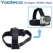 Для gopro аксессуары эластичный регулируемый глава крепление ремня для gopro 4 3 + 3 sj4000 sjcam sj5000 экен h9 xiaomi yi действий камеры