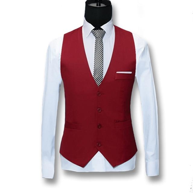 2016 Hombres Traje Blazers Chaquetas de Los Hombres de Negocios Visten Chalecos Chalecos Colete masculino de Los Hombres de Moda Casual Slim Fit Chaleco Sin Mangas