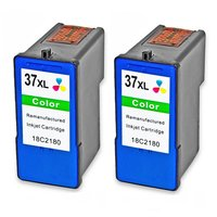 2 Kleur Pack Compatibel Voor Lexmark 36xl 37xl Inktcartridge Inkjet Set Voor Lexmark 36 37 X5650es Z2420 LM36 LM37 Printer