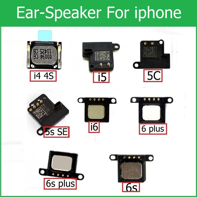 100% Genuine Earpiece Speaker for iPhone 4 4s 5 5s 5c SE 6 6S Plus Ear Speaker Earpiece Ear-Speaker cell phone parts replacement