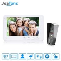 JeaTone 7 Inch TFT Color Monitor 800TVL Camera Video Door Phone Intercom Security Speaker System Waterproof
