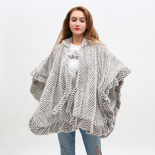 Women Loose Casual Capes Winter Warm Thick Poncho Soft Cardigan With hat Fashion Batwing Sleeves Coat цена