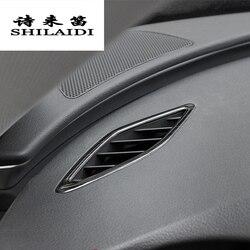 Car Styling dla Audi A6 C7 A7 gniazdo elektryczne wykończenia wylot powietrza rama dekoracji ze stali nierdzewnej naklejki pokrywa wnętrze akcesoria samochodowe w Naklejki samochodowe od Samochody i motocykle na