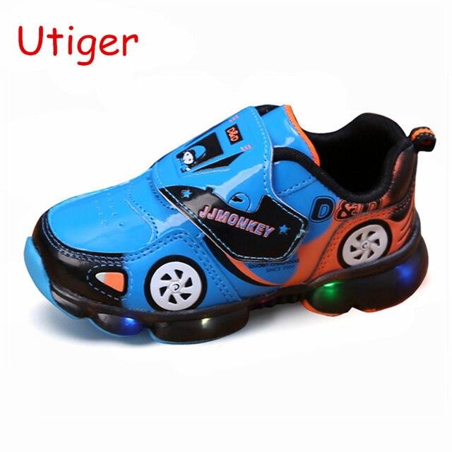 Garçons Chaussures Lumineuses Enfants Dessin Animé Voiture Led