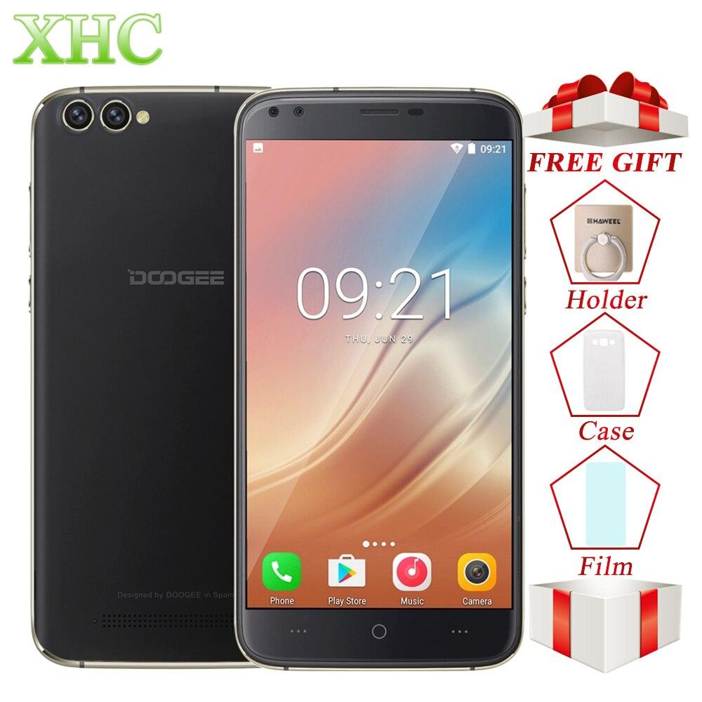DOOGEE X30 Android 7.0 Smartphones 5.5 ''4 Caméras MTK6580A Quad Core téléphone portable 2 GB RAM 16 GB ROM Dual SIM WCDMA OTA Mobile Téléphone