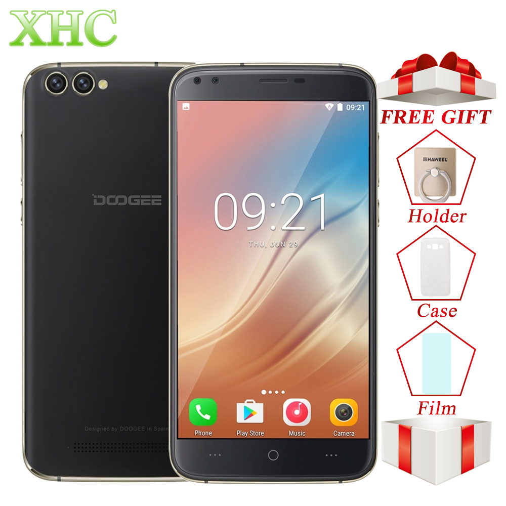 DOOGEE X30 Android 7.0 Smartphones 5.5'' 4 Cameras MTK6580A Quad Core Cellphone 2GB RAM 16GB ROM Dual SIM WCDMA OTA Mobile Phone