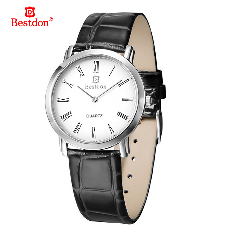 Bestdon WHBD007 10 Fashion Round Dial Quartz Wrist Watch Waterproof Brown Strap for Women