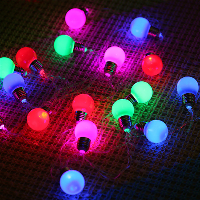 LED 3M 20 G45 Globe String Lights RGB And Warm White For Indoor Outdoor Ambience Decor Christmas Wedding Lights Battery Operated