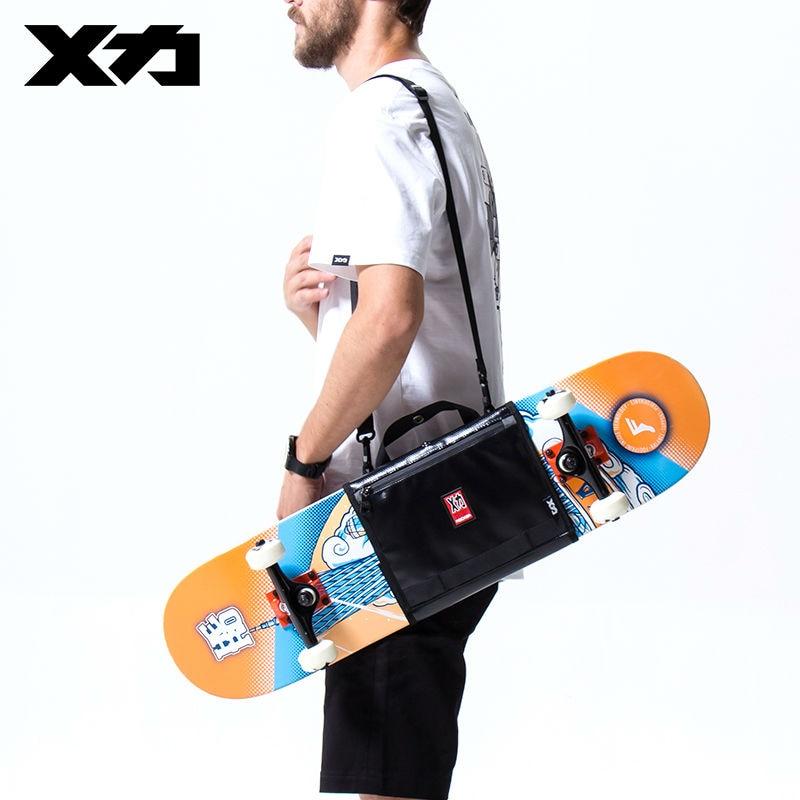 MACKAR Crossbody Skateboard Bag Rubber Coating Cloth Man Skate Handbags  Double Rocker Small Shoulder Bags for Skates Mochila. US  43.91. MACKAR  Black Oxford ... 9d6be4c2b5b
