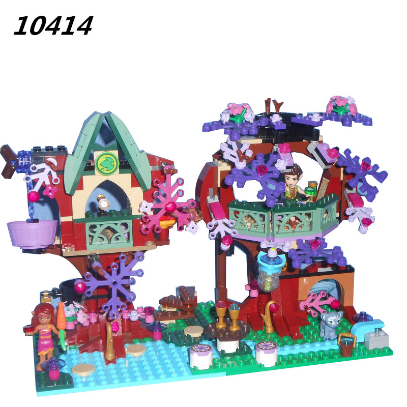 органайзер для проводов hideaway средний белый коричневый 1228054 WAZ Compatible Legoe Elves Friends 41075 Bela 10414 507pcs Elves Treetop Hideaway Figure building blocks Bricks toy for children