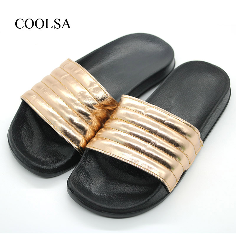 COOLSA Women's Summer Flat EVA Beach Slippers Fashion Home Indoor Bath Slippers Women Non-slip Flip Flops Pokemon Slippers Hot coolsa women s summer striped linen slippers breathable indoor non slip flax slippers women s slippers beach flip flops slides