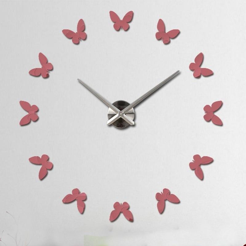 New Arrive Rushed Big Mirror Wall Clock Modern Designlarge Designer Wall  Watch Clocks
