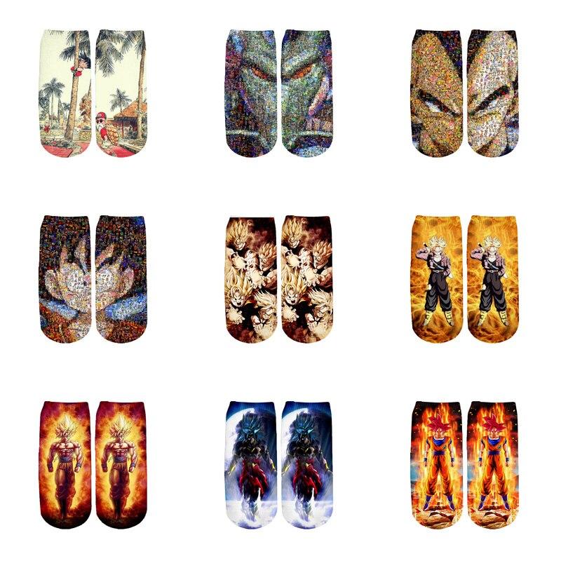 PLstar Cosmos Anime Dragon Ball Z Son Goku/Son Gohan/Vegeta Cotton   Socks   Colorful Warm Cartoon Short Ankle   Socks  -1