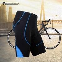 Santic Men Cycling Padded Shorts Pro Fit Shockproof Coolmax 4D Pad MTB Road Bike Shorts Team