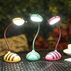 Kreatywny Smart Touch Bee Shape lampka nocna lampa LED USB do ładowania lampa stołowa lampka do czytania lampa Led do ochrony oczu|Lampy na biurko|   -