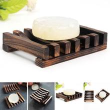 10.8x8x2cm Wooden Handmade Bathroom Wood Soap Dish Box Container Tub Storage Cup Rack Durable