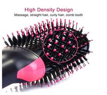 1000W Professional Hair Dryer Brush 2 In 1 Hair Straightener Curler Comb Electric Blow Dryer With Comb Hair Brush Roller free new ufree uf 62193 professional ceramic hot comb hair straightener brush straightening brush blow dryer brush red 1000w