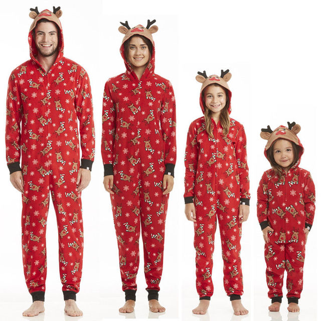 2017 fashion family matching outfits men women kids baby christmas