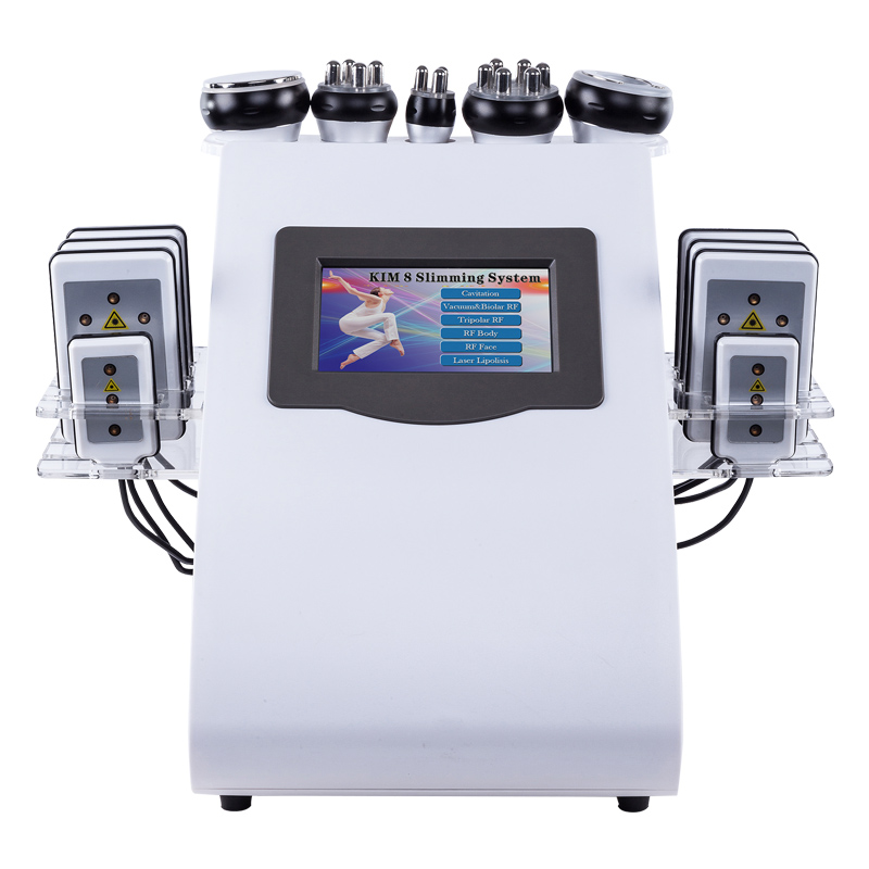 2019 hot 6in1 multi-pólo laser RF máquina de lipoaspiração ultra-sônica da cavitação de emagrecimento de laser