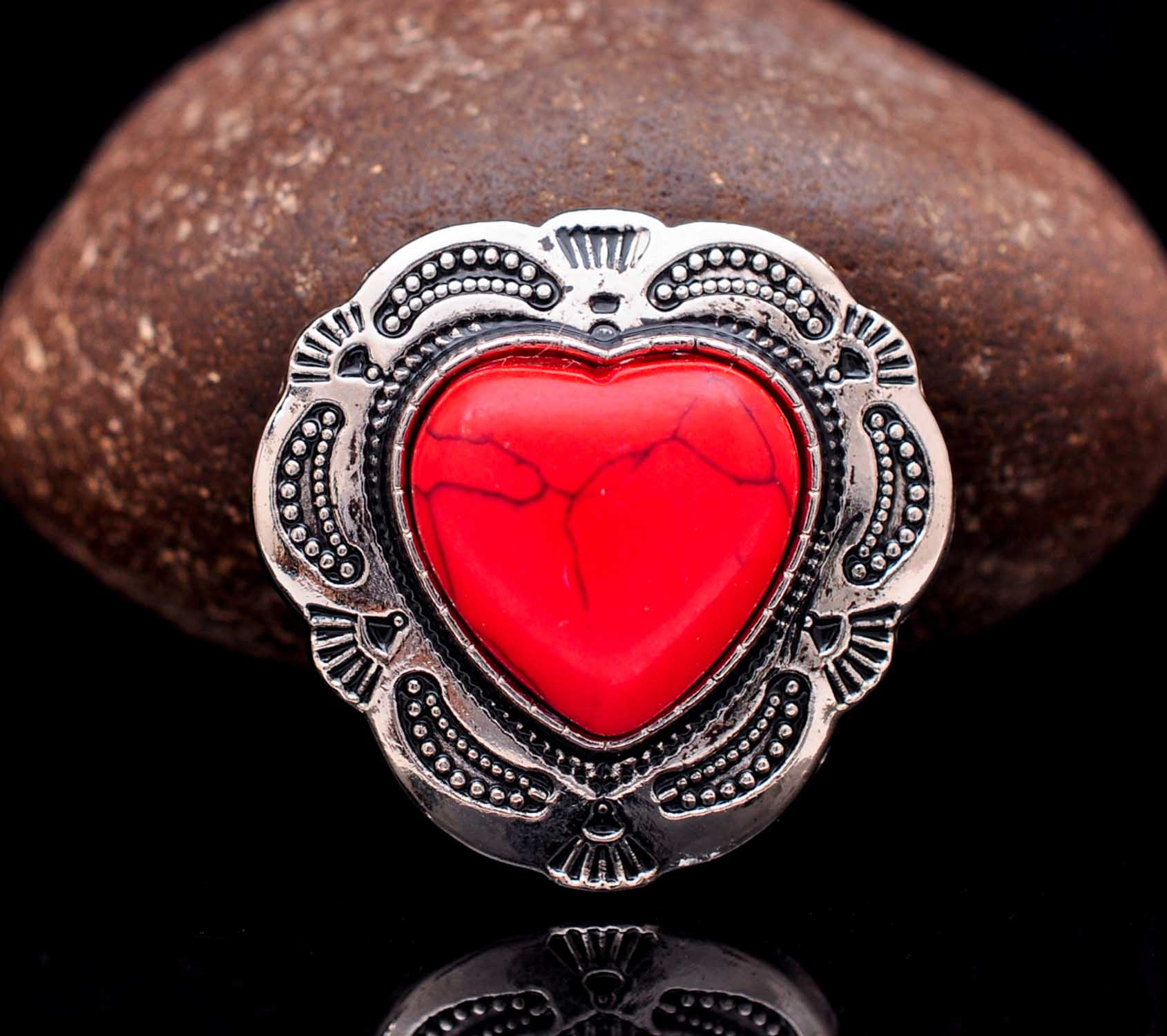 10X Retro Love Heart Flower Rapid Rivet Stud For Leathercraft Belt Oval Concho
